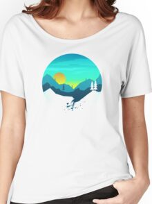 Pine Hills By The Mountains Sunrise Women's Relaxed Fit T-Shirt