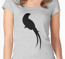 Black Paradise Bird Women's Fitted Scoop T-Shirt