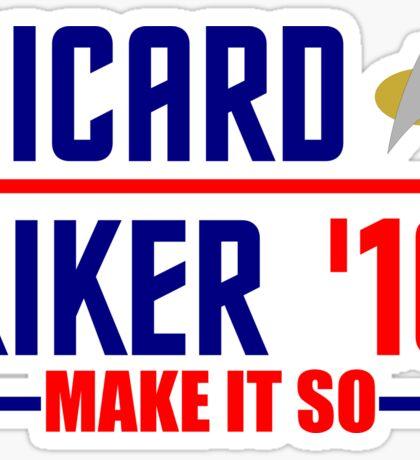 Picard-Riker 2016! Star Trek design Sticker