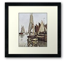 Claude Monet - Sailboat At Honfleur 1866  Framed Print