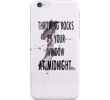 rock throwing at midnight iPhone Case/Skin