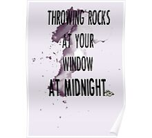 rock throwing at midnight Poster