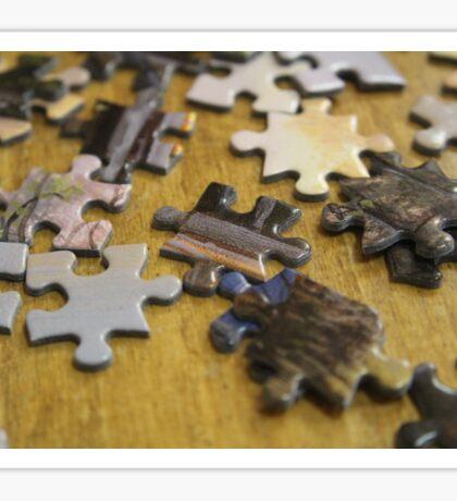 Coffee Shop Puzzle Pieces Sticker