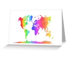Watercolor World Greeting Card