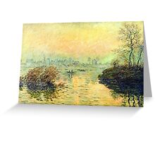 Claude Monet - Sun Setting Over The Seine At Lavacourt  Winter Effect 1880  Greeting Card
