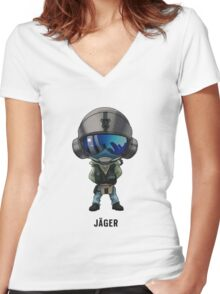 Jäger Chibi Women's Fitted V-Neck T-Shirt