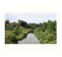 Rural river landscape Art Print