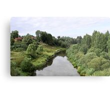 Rural river landscape Metal Print