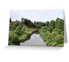 Rural river landscape Greeting Card