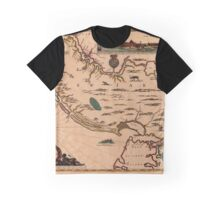 Map Of New Jersey 1672 Graphic T-Shirt