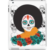 Black Power Skull iPad Case/Skin