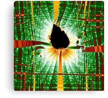 Fractal Leaf Matrix Canvas Print