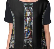 stained glass nr4 Chiffon Top