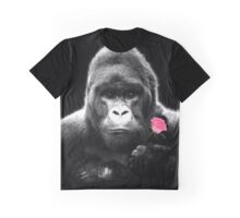 Gorilla Rose Graphic T-Shirt