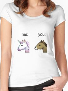 im a unicorn, you're a horse Women's Fitted Scoop T-Shirt