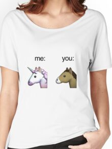 im a unicorn, you're a horse Women's Relaxed Fit T-Shirt