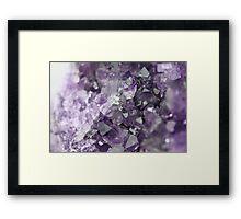Amethyst Crystal Cluster Framed Print