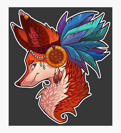 Feather Fox Photographic Print