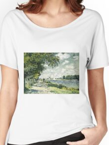 Claude Monet - The Seine At Argenteuil 1875  Women's Relaxed Fit T-Shirt