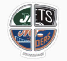 New York Pro Sports TETRAlogy! Mets, Jets, Nets and Islanders by KrisFire