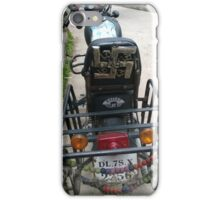 I came across this bike in Manali, Himachal Pradesh. It caught my attention because of the Hindu and Buddhist motifs and symbols that it seemed to flaunt. iPhone Case/Skin