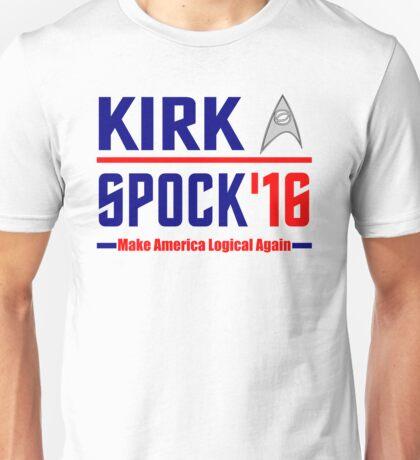 Kirk-Spock 2016! Star Trek design Unisex T-Shirt
