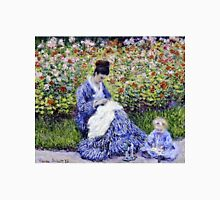 Claude Monet - Camille Monet And A Child In The Artists Garden In Argenteuil 1875  Unisex T-Shirt