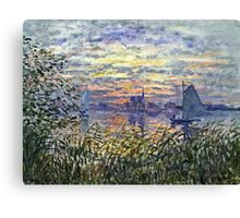 Claude Monet - Marine View With A Sunset 1875  Canvas Print
