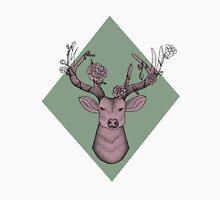 Pink/Green Geometric Deer Unisex T-Shirt