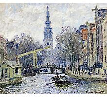 Claude Monet - Canal Amsterdam  Photographic Print