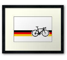 Bike Stripes German National Road Race Framed Print