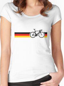 Bike Stripes German National Road Race Women's Fitted Scoop T-Shirt