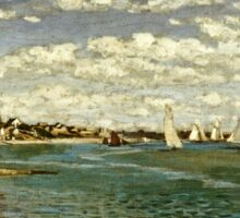Claude Monet - Regatta At Sainte-Adresse 1867  Sticker