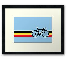 Bike Stripes Belgian National Road Race Framed Print