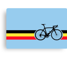 Bike Stripes Belgian National Road Race Canvas Print