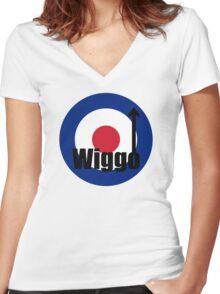 Wiggo Mod Women's Fitted V-Neck T-Shirt