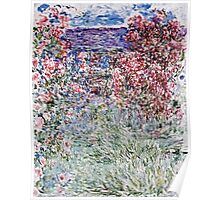 Claude Monet - The House In The Roses  Poster