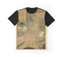 Map Of New Orleans 1803 Graphic T-Shirt