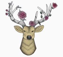 Deer wearing a Flower Crown One Piece - Long Sleeve