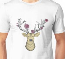 Deer wearing a Flower Crown Unisex T-Shirt