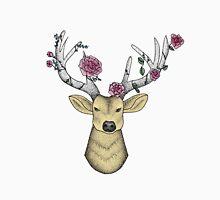 Deer wearing a Flower Crown Unisex T-Shirt