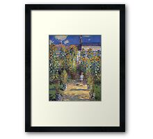 Claude Monet - The Artist S Garden At Vetheuil 1881 Framed Print