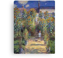 Claude Monet - The Artist S Garden At Vetheuil 1881 Canvas Print