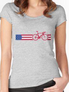 Bike Stripes USA v2 Women's Fitted Scoop T-Shirt