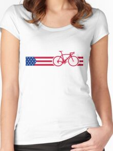Bike Stripes USA v2 Women's Fitted Scoop T-Shirt
