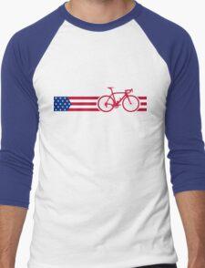 Bike Stripes USA v2 Men's Baseball ¾ T-Shirt