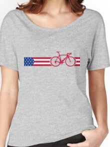 Bike Stripes USA v2 Women's Relaxed Fit T-Shirt