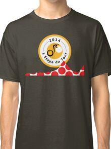 Red Polka Dot 2014 L'Etape du Tour Mountain Profile v2 Classic T-Shirt