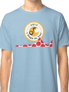 Red Polka Dot 2014 L'Etape du Tour Mountain Profile v2 Classic T-Shirt