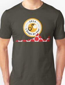 Red Polka Dot 2014 L'Etape du Tour Mountain Profile v2 Unisex T-Shirt